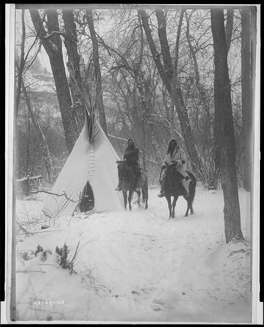The winter camp--Apsaroke