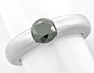 Original-Foto 1, BRILLANT-SPANN-RING SCHWARZER DIAMANT 0,93ct LUXUS! NEU