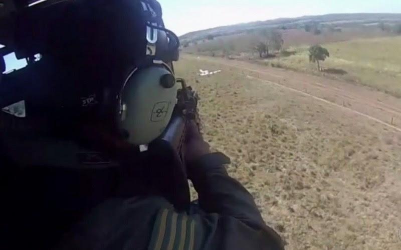 Aeronave foi interceptada pela FAB e desobedeceu ordem de pouso em aeródromo (Foto PM GO)
