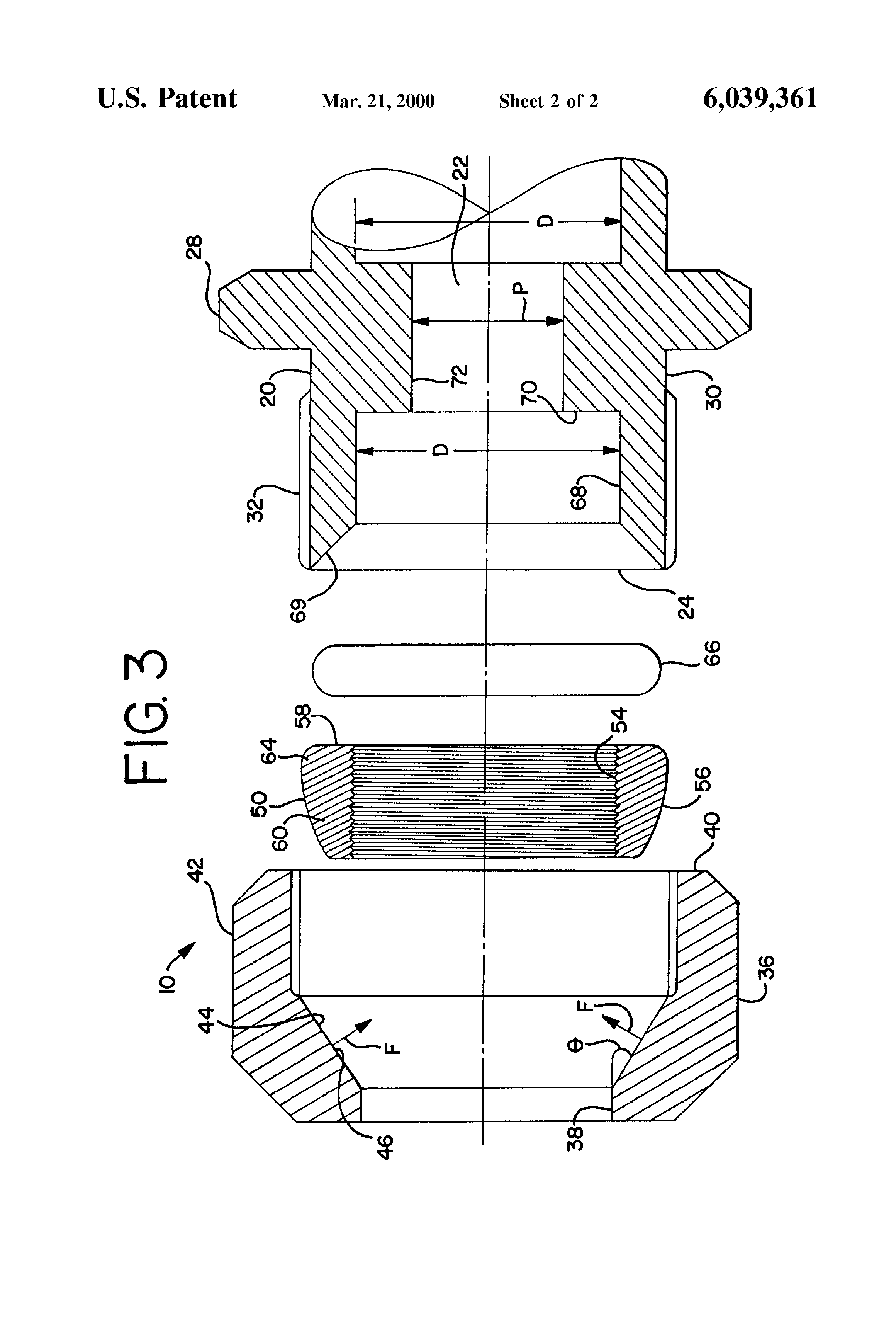 Patent US Plumbing Pression Fitting For