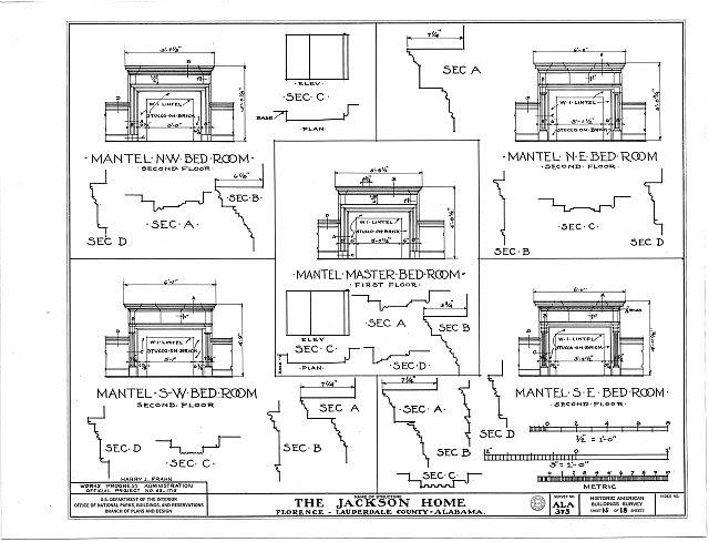 HABS ALA,39-FLO.V,3- (sheet 15 of 18) - Forks of Cypress, Savannah Road (Jackson Road), Florence, Lauderdale County, AL