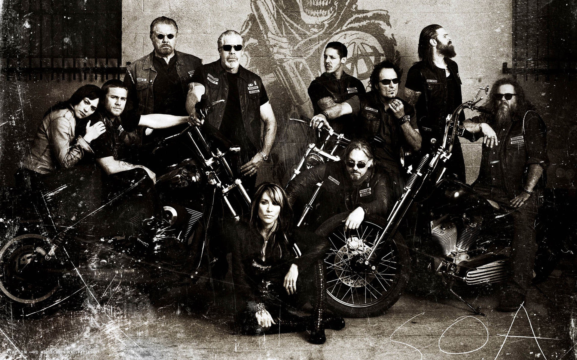 Sons Of Anarchy Tv Series Show Hd Widescreen Wallpaper Tv Series