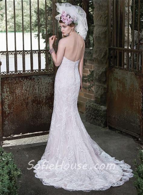 Elegant Mermaid Sweetheart Vintage Lace Wedding Dress