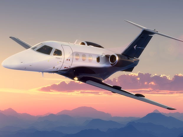 Jato Phenom 100E da Embraer custa ao redor de R$ 20 milhões  (Foto: Divulgação)