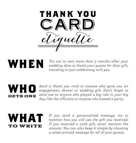 Thank You Card Etiquette   Everyone that attends your