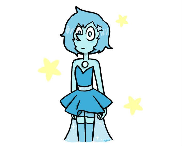 Blue Pearl as a Crystal Gem!!!
