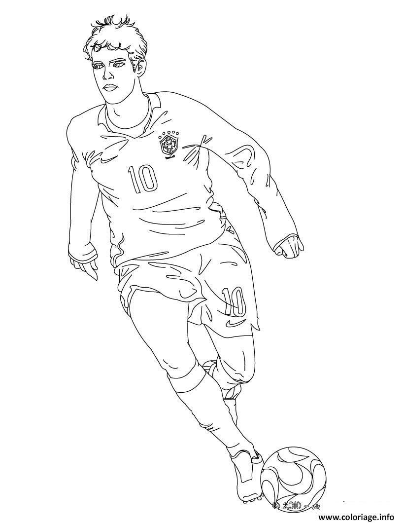 Coloriage Joueur Football Kaka Dessin  Imprimer