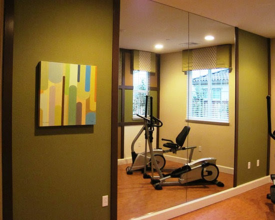 Home Exercise Rooms Design Ideas, Pictures, Remodel, and Decor