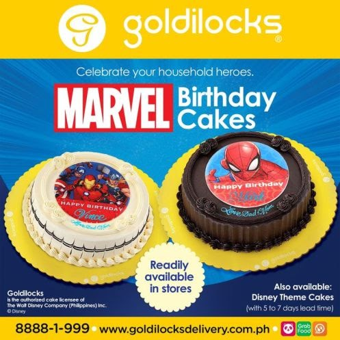 Marvel Birthday Cakes are now readily available at Goldilocks.