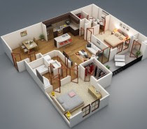 3 Distinctly Themed Apartments Under 800 Square Feet (~75 square ...