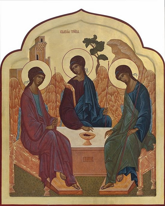 The Holy Trinity. Icon by A. Meschereva