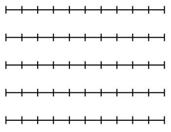 Blank Number Line (for any activity) | Activities, Activities for ...