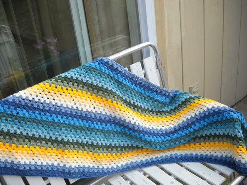 Granny Stripe Blues, Greens and Yellows by EMCphotos