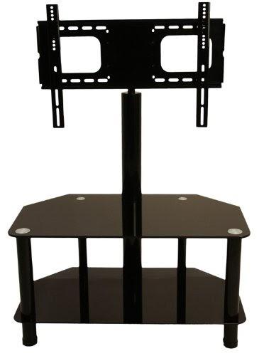 Designer habitat glass floor tv stand and swivel bracket for Habitat meuble tv
