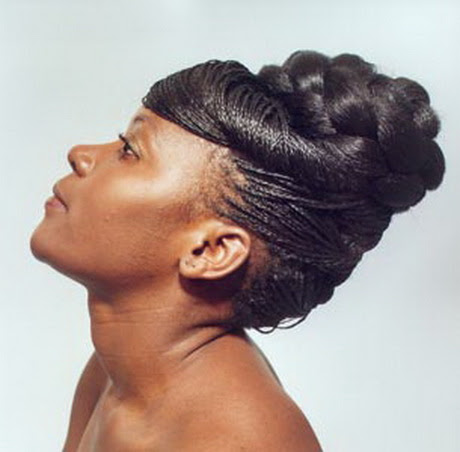 Micro braid  updo  hairstyles