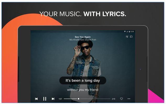 Musixmatch music & lyrics android player
