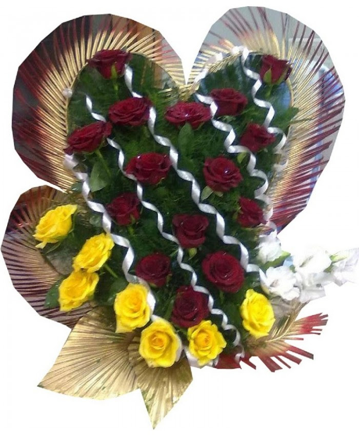 Send I Love You Flower Basket Bouquet Gift To Coimbatore India