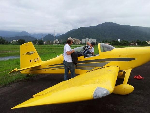 Avião monomotor desapareceu quando ia de Ubatuba a Rio Claro, nesta segunda-feira (Foto: Acervo pessoal)