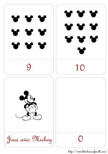 Patron cartes nombres de 9 à 0