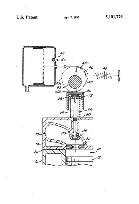 Patent US5101776 - Engine with variable compression ratio