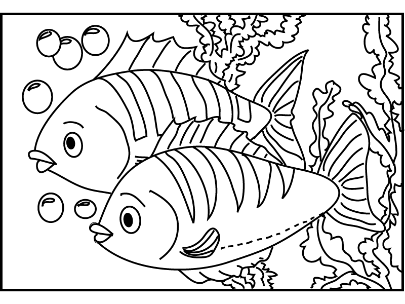 Fish 2 coloring page
