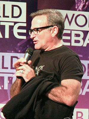 Robin Williams, U.S. actor, at the 2008 BBC Wo...