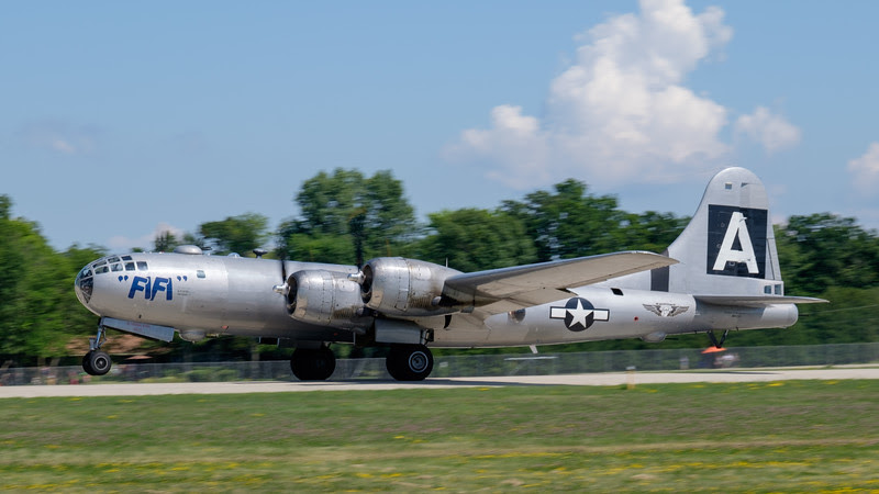 B-29 taking-off