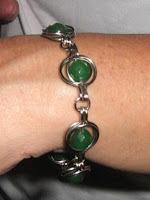 wire wrapped twice around the world bracelet