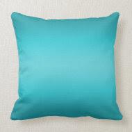 Dark and Light Aqua Blue Gradient - Turquoise Pillows