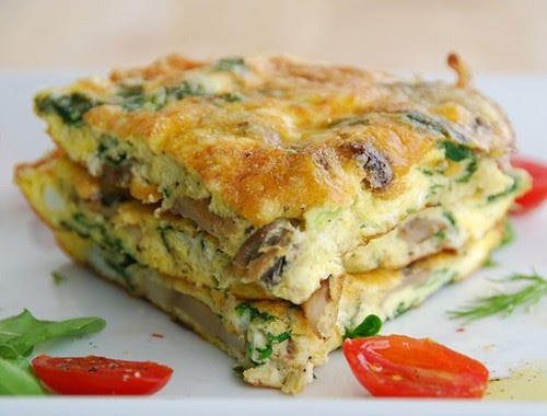 spinach and ricotta frittata 2