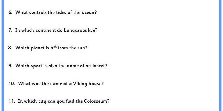 General Knowledge Quiz   Classroom Secrets