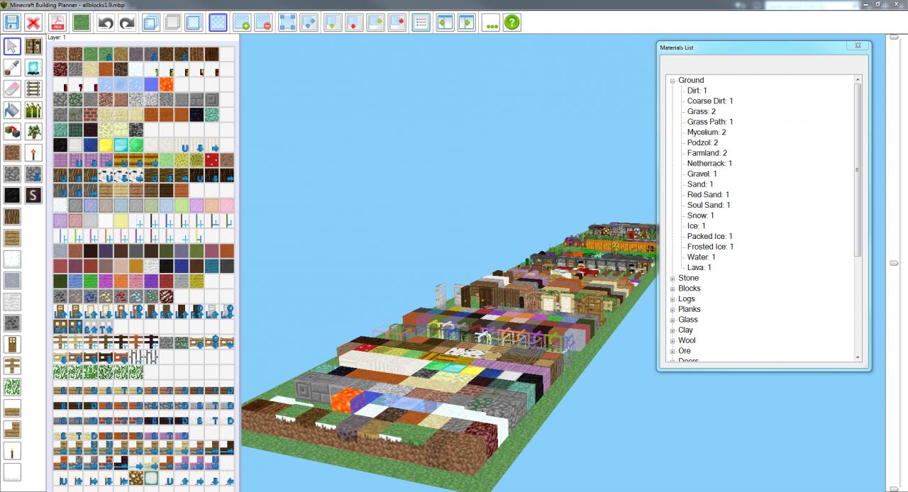 Minecraft Building Planner (Version 1.1.10 - Updated 10/17 ...