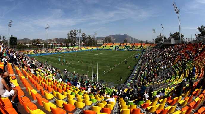 Foto panorâmica do estádio de Deodoro (Foto: David Rogers / Getty Images)