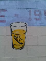 Submarine in pint glass