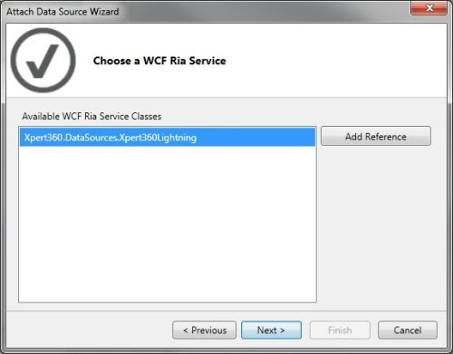 LightSwitch designer - Choose a WCF Ria Service