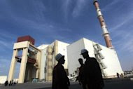 """The reactor building at the Russian-built Bushehr nuclear power plant, 1200 kms south of Tehran, in October 2010. Iran """"will never stop"""" its controversial uranium enrichment, the country's envoy to the IAEA said on Tuesday, on the sidelines of a Non-Aligned Movement ministerial meeting in Tehran. (AFP Photo/Majid Asgaripour)"""