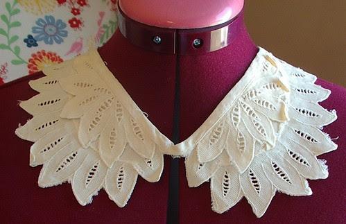 cutwork fabric vintage collar