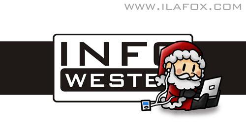 Doodle Infowester Natal 2009, ilustração by ila fox