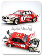 Maqueta de coche 1/24 Scuderia Italia.Lab - Toyota Celica TA64 Group B Belga - Nº 1 - Juha Kankkunen - Rally de Haspengow  1985 - kit Multimedia