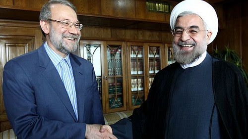 The Iranian Speaker of Parliament with the new President of the Islamic Republic. The Middle Eastern state will be the continued focus of U.S. imperialism. by Pan-African News Wire File Photos