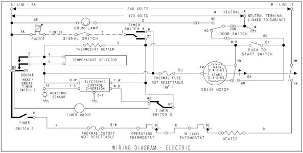80 Series Kenmore Dryer Wiring Diagram