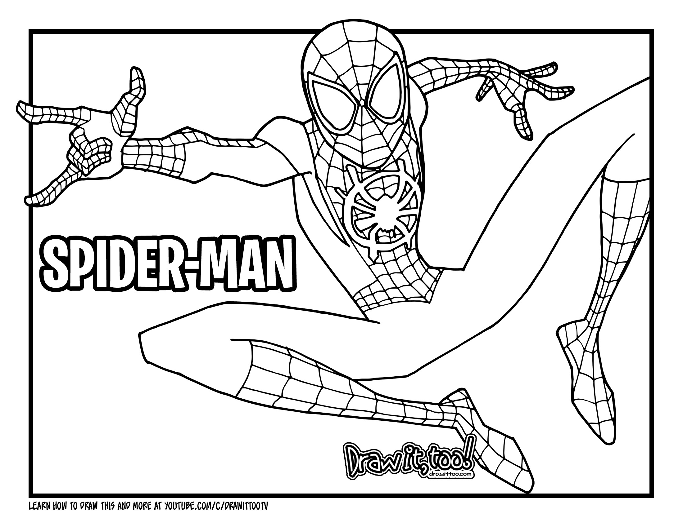 45 FREE SPIDER MAN MILES MORALES COLORING PAGES PRINTABLE PDF CDR DOWNLOAD DOCX TUTORIAL with ...