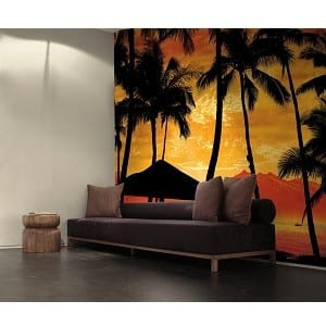 Sunset Mural From Scarface Bachelor On A Budget