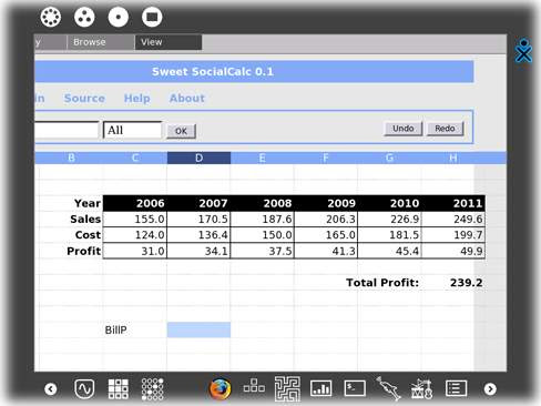 Social Calculator for the XO laptop