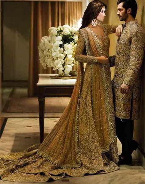 Pakistani bride groom dresses combination 13 in 2019