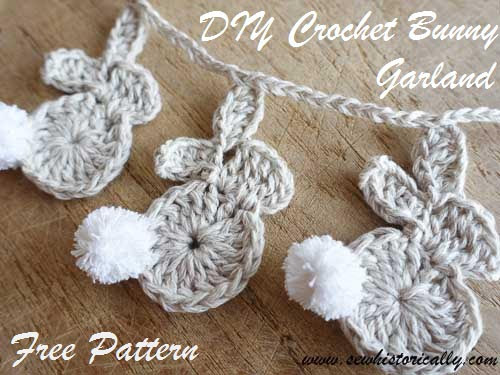 http://www.sewhistorically.com/crochet-easter-bunny-garland-free-pattern