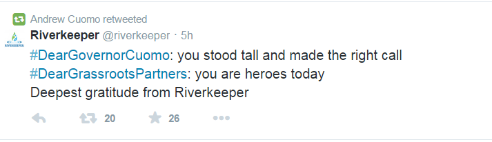 Riverkeeper tweet