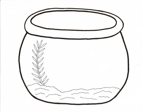 Free Fish Bowl Coloring Sheet, Download Free Clip Art ...