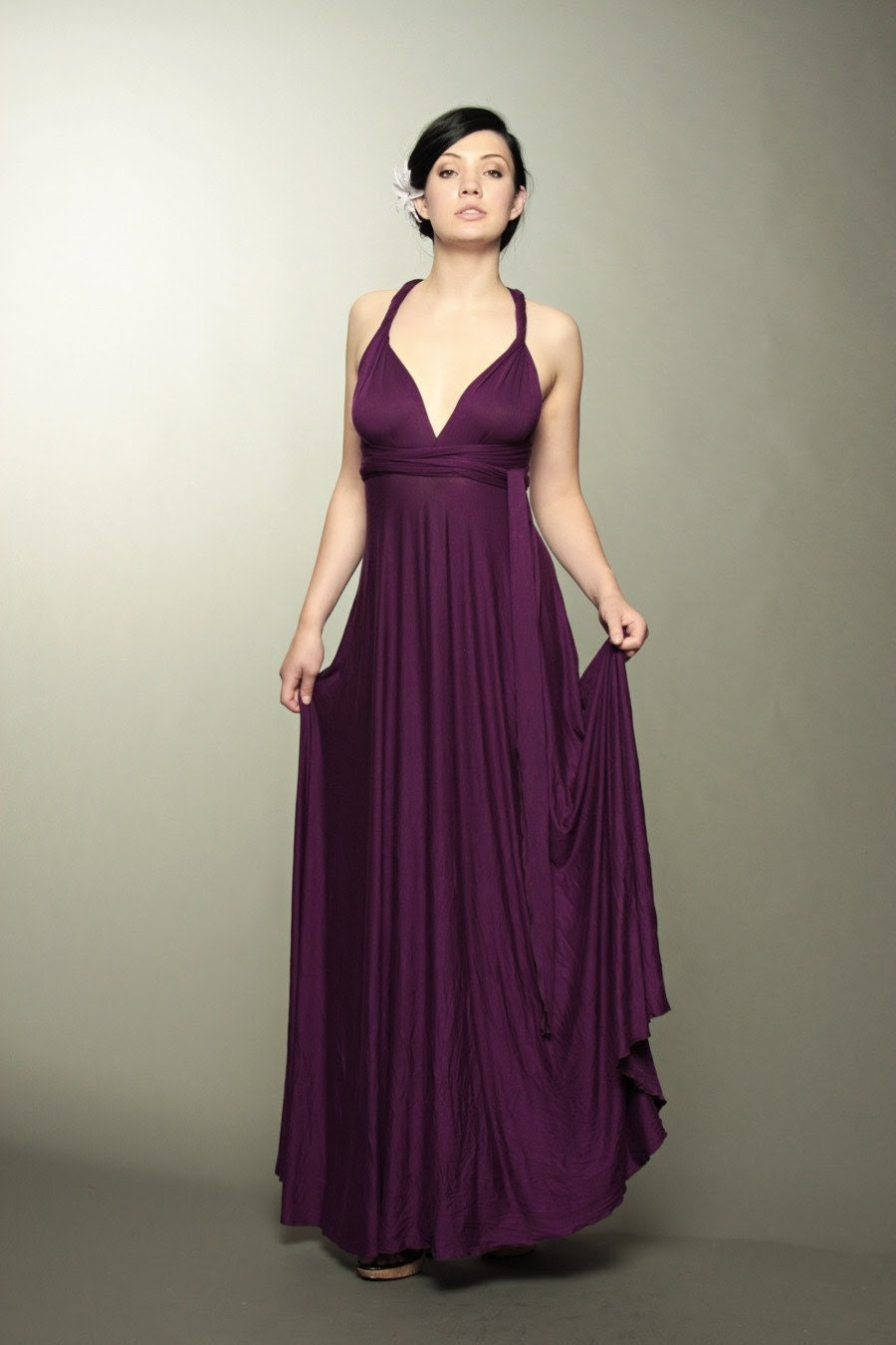 Chameleon Gown- Full length- Rayon jersey- Made to order- Any Color
