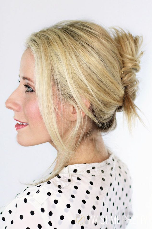 Le Fashion Blog -- Hair Inspiration: How To Get A Textured French Twist -- Wedding Party -- Polka Dot Top -- Beauty -- Via Abby Twist Me Pretty -- photo Le-Fashion-Blog-Hair-Inspiration-How-To-Get-A-Textured-French-Twist-Wedding-Party-Polka-Dot-Top-Beauty-Via-Abby-Twist-Me-Pretty.jpg